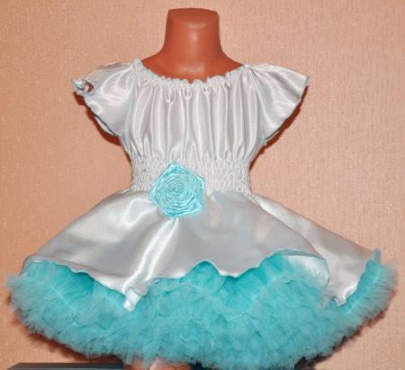 Бело Голубое Платье С Доставкой